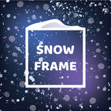 Sneeuw vierkant kader Sneeuwvalachtergrond Vectoreps 10 voor uw de winterontwerp Stock Fotografie