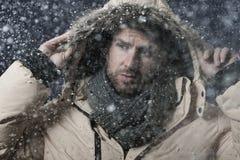 Sneeuw-vlaag royalty-vrije stock fotografie