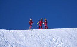 Sneeuw voor drie Stock Foto's