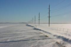 Sneeuw Weg Stock Foto's