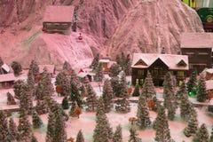 Sneeuw weinig stuk speelgoed stock afbeeldingen