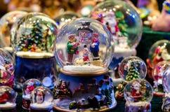 Sneeuwbal Toy Glass Ball stock afbeeldingen