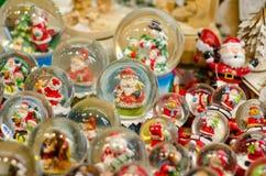 Sneeuwbal Toy Glass Ball stock foto's