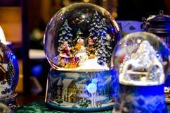 Sneeuwbal Toy Glass Ball royalty-vrije stock foto