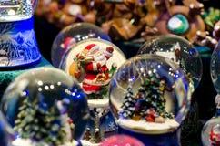 Sneeuwbal Toy Glass Ball stock afbeelding