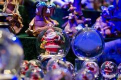 Sneeuwbal Toy Glass Ball royalty-vrije stock foto's