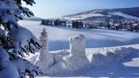 Sneeuwbeeldhouwwerk Royalty-vrije Stock Fotografie