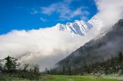 Sneeuwberg in bewolkte dag Stock Fotografie
