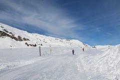 Sneeuwberg in Kaprun Stock Afbeelding