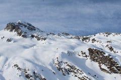 Sneeuwberg in Kaprun Royalty-vrije Stock Afbeelding