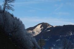 Sneeuwberg in Kaprun Stock Foto