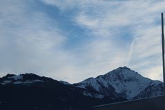 Sneeuwberg in Kaprun Royalty-vrije Stock Afbeeldingen