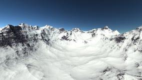 Sneeuwberg op de heuvel Stock Foto