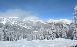 Sneeuwberg zijcolorado royalty-vrije stock fotografie