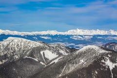 Sneeuwbergen Royalty-vrije Stock Fotografie