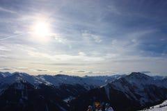 Sneeuwbergen Royalty-vrije Stock Afbeelding