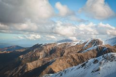 Sneeuwbergen in Nieuw Zeeland royalty-vrije stock foto
