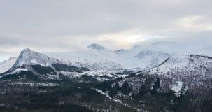 Sneeuwbergen, Noorwegen Stock Foto