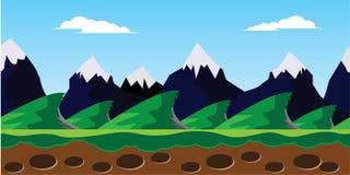 Sneeuwberglandschap Stock Afbeelding