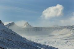 Sneeuwberglandschap in IJsland Stock Foto's