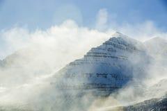 Sneeuwberglandschap, Oost-IJsland Stock Fotografie