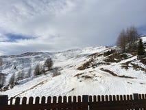 Sneeuwberglandschap in vipiteno in trentinoalt adige Stock Afbeelding