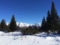 Sneeuwberglandschap in vipiteno in trentinoalt adige Stock Foto