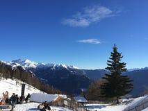 Sneeuwberglandschap in vipiteno in trentinoalt adige Royalty-vrije Stock Afbeelding