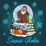 Sneeuwbol met binnen Santa Claus Stock Foto's