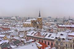 Sneeuwdaken van Prag Royalty-vrije Stock Foto