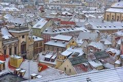 Sneeuwdaken van Prag Stock Fotografie