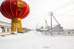 Sneeuwdorp royalty-vrije stock fotografie