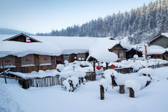 Sneeuwdorp stock fotografie