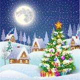 Sneeuwdorp stock illustratie
