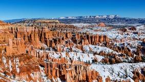 Sneeuwend Zion National Park in wintertijd, Utah, de V.S. royalty-vrije stock foto's