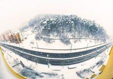 Sneeuwende dag royalty-vrije stock foto