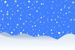 Sneeuwende de winterachtergrond Royalty-vrije Stock Foto