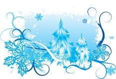 Sneeuwende de winterachtergrond Stock Foto