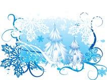 Sneeuwende de winterachtergrond Stock Afbeeldingen