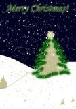 Sneeuwende Kerstkaart Royalty-vrije Stock Afbeeldingen