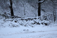 Sneeuwende Weg Royalty-vrije Stock Foto