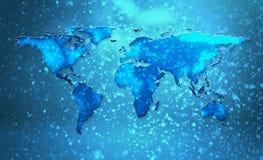 Sneeuwende Wereld vector illustratie