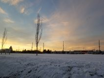 Sneeuwgebied royalty-vrije stock foto