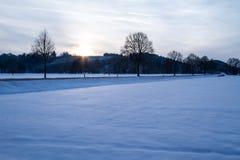Sneeuwgebied Royalty-vrije Stock Afbeeldingen