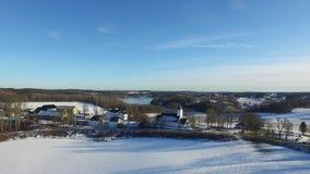 Sneeuwgebied stock footage