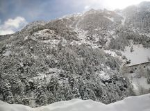 Sneeuwlandschap in de winter Stock Afbeelding