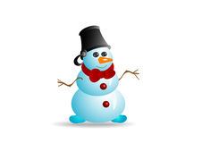 Sneeuwman 1 Royalty-vrije Stock Foto