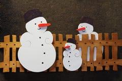 Sneeuwman royalty-vrije stock foto's