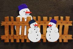 Sneeuwman stock fotografie