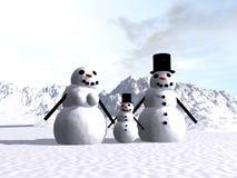 Sneeuwman 14 Royalty-vrije Stock Afbeelding